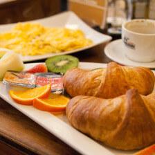 Frühstück im Cafe Plazebo