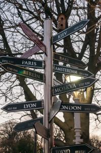 Paris und Amsterdam in entgegengesetzter Richtung? Von Istanbul aus wohl mehr so ungefähr  - Foto: Daniel Potthast