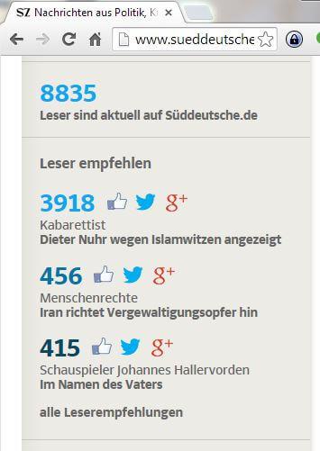 Süddeutsche.de - Leserempfehlungen